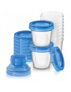 SET RECIPIENTES SCF618/10 VIA 10UDS AVENT