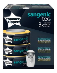 PACK DE 3 RECAMBIOS SANGENIC TEC TOMMEE TIPPEE