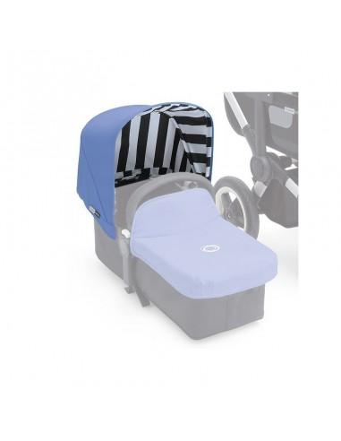 Capota Bugaboo Donkey jewel Blue - Azul con rayas negras y blancas