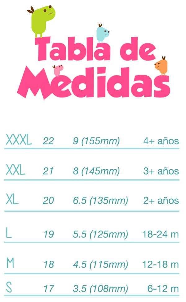 Medidas de tallas calzado Attipas