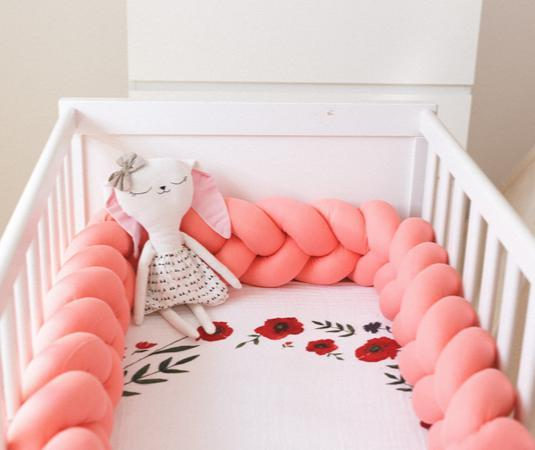 Trenza protector cama o cuna bebé